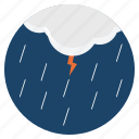 rainfall, clouds, thunder, lightning, weather, forecast, storm icon