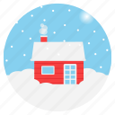 winter, north pole, weather, chimney, cottage, snowfall, christmas icon