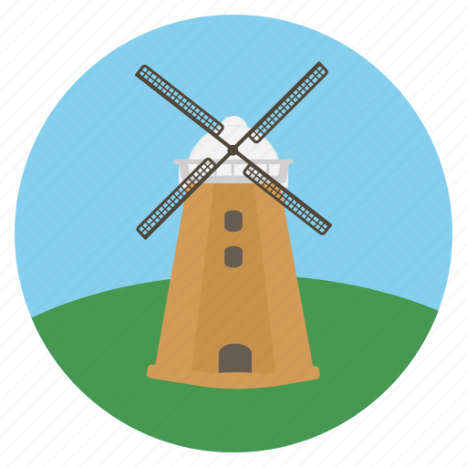 electricity, energy, holland, mill, power, wind, windmill icon
