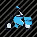transportation, bike, bicycle, man, transport, delivery, messenger