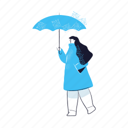 weather, woman, female, person, umbrella, protection, forecast