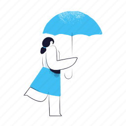 weather, security, umbrella, protection, safety, woman