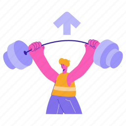 business, sports, increase, promotion, arrow, lift, weight, gym