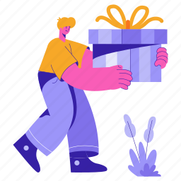 e, commerce, gift, present, wrapping, delivery, shopping