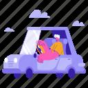 transportation, car, vehicle, transport, travel, navigation