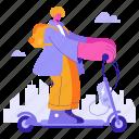 transportation, transport, vehicle, scooter, electric, ecology
