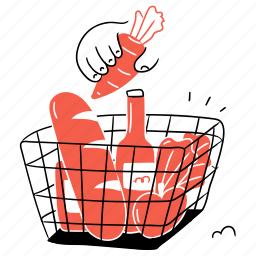 shopping, groceries, food, organic, healthy, cart, purchase
