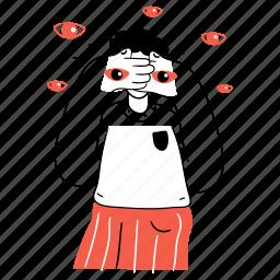 social, media, view, vision, eyes, visual, hide, privacy