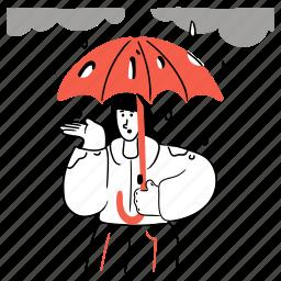 weather, safety, protection, umbrella, danger, rain, warning, unsafe