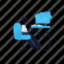 workspace, man, male, person, laptop, computer, desk