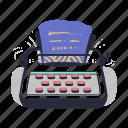 coding, wording, typewriter, screen, writer, type, typing, document, paper