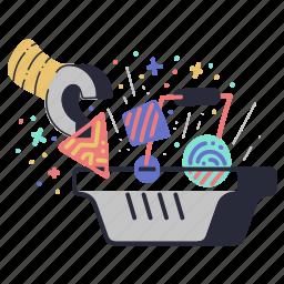 e, commerce, basket, add, to, shopping, ecommerce, cart, robotic, arm