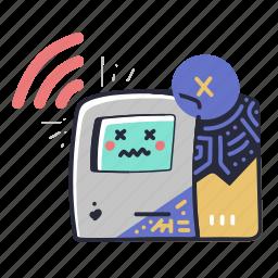 error, no, signal, computer, atm, machine, fault, broken, maintenance, robot