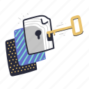 files, and, folders, confidential, secure, privacy, key, file, paper, document, protection, lock