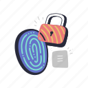 security, fingerprint, lock, protection, privacy, padlock, identification, locked
