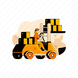 delivery, loading, package, inventory, storage, warehouse, forklift, transport, 1