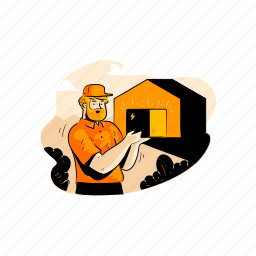delivery, storage, warehouse, package, box, building, express