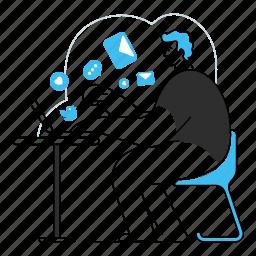 social, media, startup, communication, laptop, computer, man, work, publish, followers