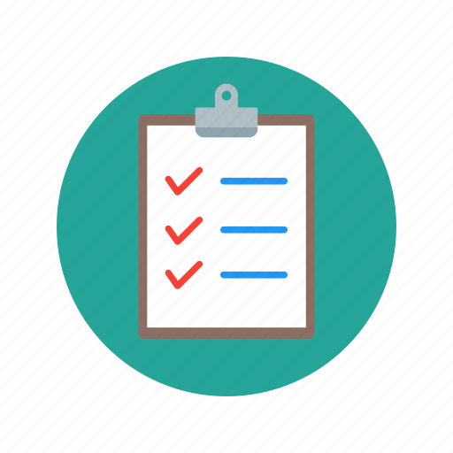 checklist, clipboard, documents, finance, paper icon