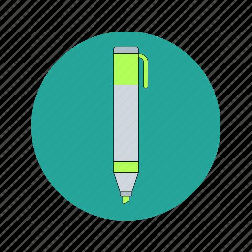 draw, highlighter, marker, pen, underline, write icon