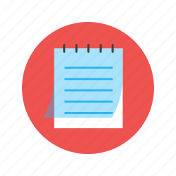 document, memo, note, page, paper, write icon