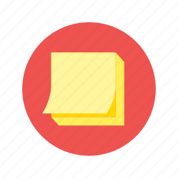 it, message, note, post, post it, sticker icon