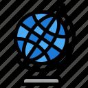 education, geography, globe icon