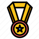 achievement, education, medal icon