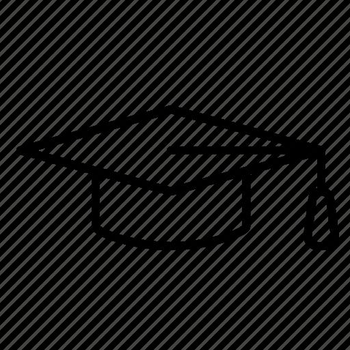 academic, education, graduation, hat icon