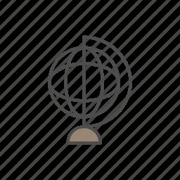 astronomy, education, geometry, globe, school icon