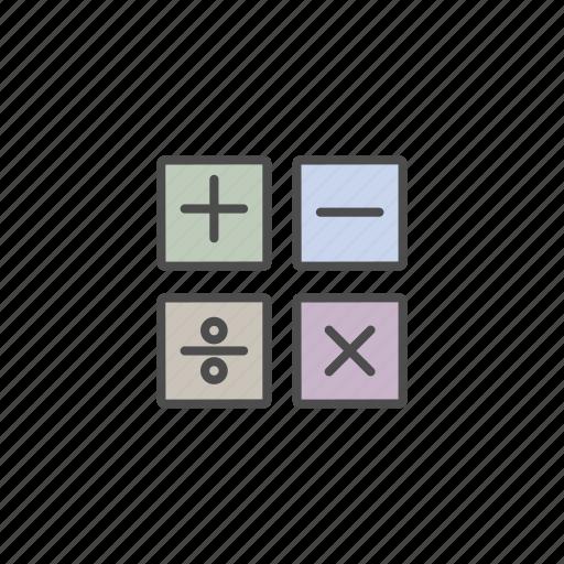 education, mathematics, school, student icon