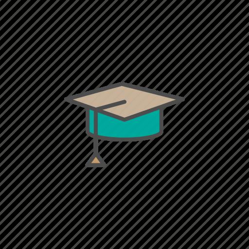diploma, graduation, school icon