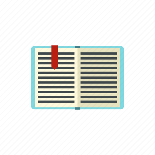education, learning, library, literature, page, paper, tutorial icon