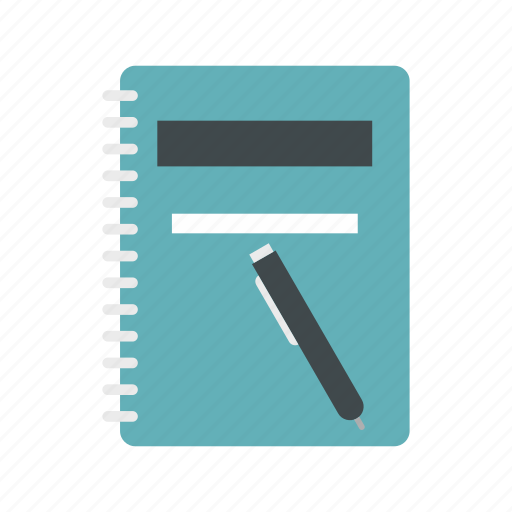 blank, book, notebook, office, pad, paper, pen icon