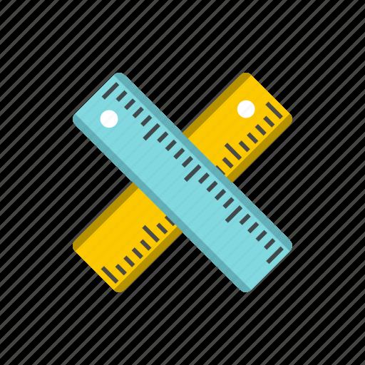 centimeter, education, line, measure, measurement, school, tool icon