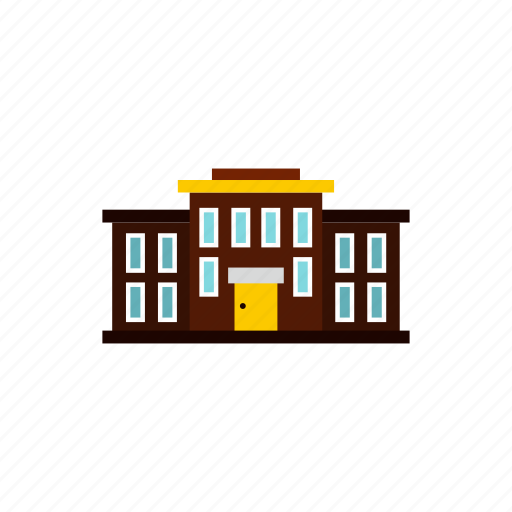 architecture, city, college, construction, education, house, school icon