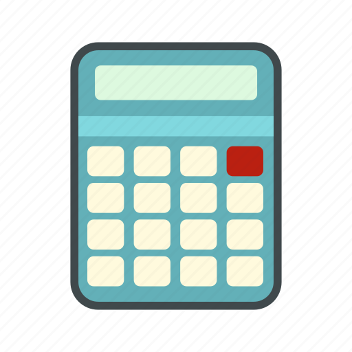 accounting, business, calculate, calculator, electronic, mathematics, modern icon