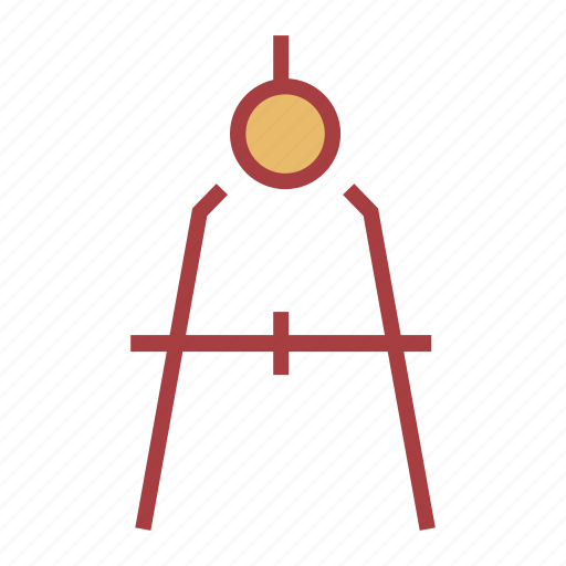 compass, drafting, education, school icon
