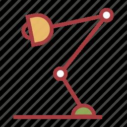 lamp, reading, school icon