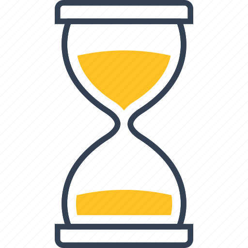 clock, hourglass, school icon