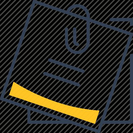 clip, paper, reminder, school icon