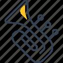 music, school, trumpet icon