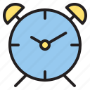 alarm, clock, education, learn, school icon