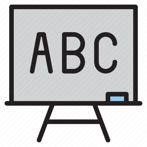 blackboard, education, learn, school icon