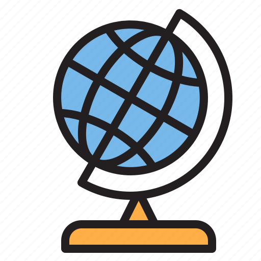 education, globe, learn, school icon