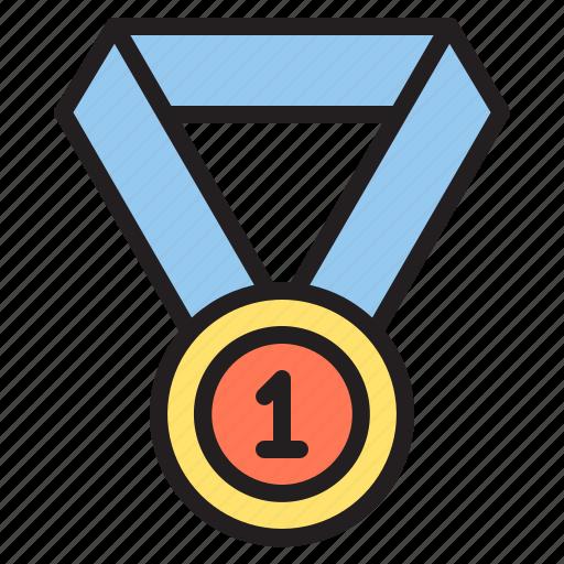 education, learn, medal, school icon