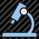 education, learn, microscope, school icon