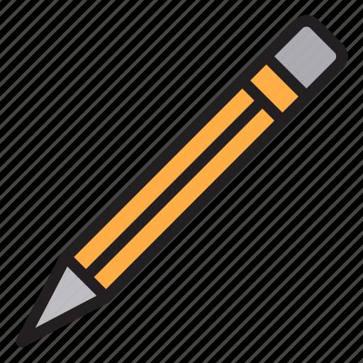 education, learn, pencil, school icon