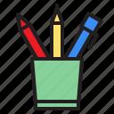 case, education, learn, pencil, school icon