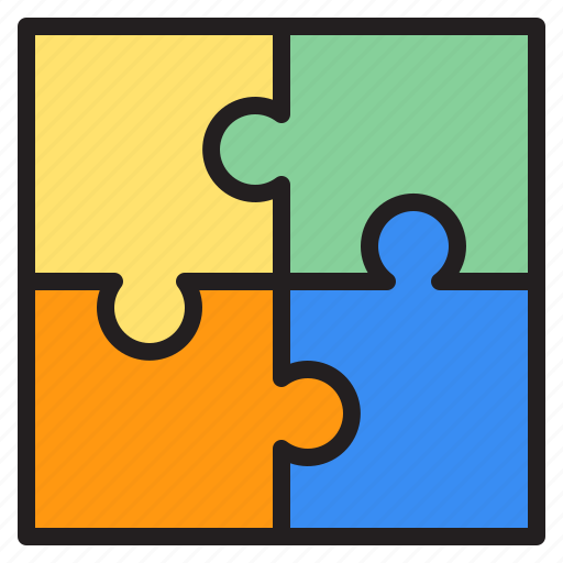 education, learn, puzzle, school icon